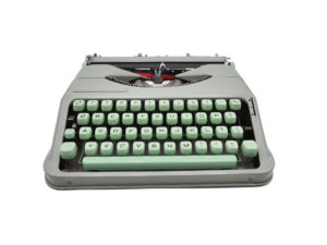 Machine à écrire Hermes Baby Rocket verte révisée ruban neuf