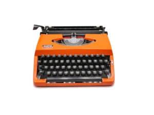 Machine à écrire Brother 210 orange révisée ruban neuf