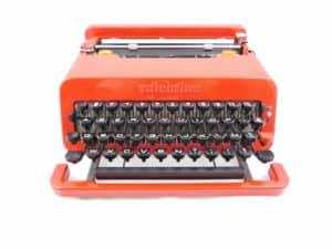 Machine à écrire Olivetti Valentine Rouge