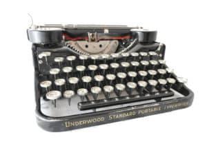 machine à écrire Underwood 4 bank