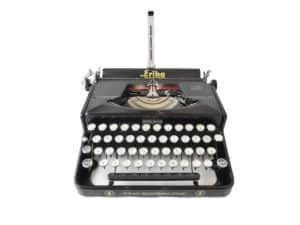 Machine à écrire Erika 5 Noire