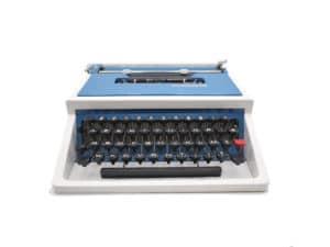 Underwood 315 bleue et blanche Révisée ruban neuf