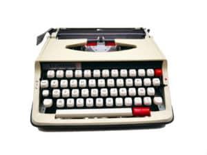 Machine à écrire Brunsviga (brother) Beige vintage révisée ruban neuf