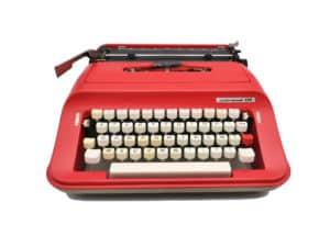 Machine à écrire Underwood 319 Rouge Ketchup révisée ruban neuf