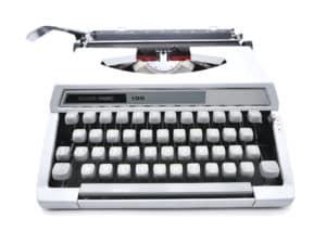Machine à écrire Silver Reed 100 Grise