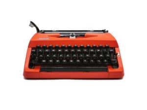 machine à écrire Brother 210 rouge orange révisée ruban neuf