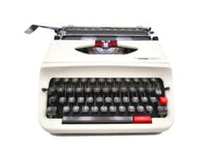 Machine à écrire Hermes Baby S Blanche