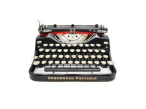 Underwood 4 Bank Portable Standard révisée ruban neuf