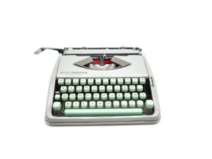 Machine à écrire Hermes baby verte tilleul révisée ruban neuf