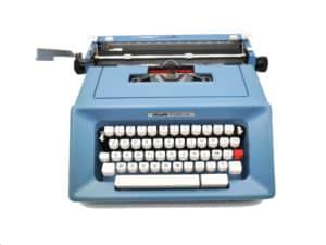 Olivetti Studio 46 bleue révisée ruban neuf