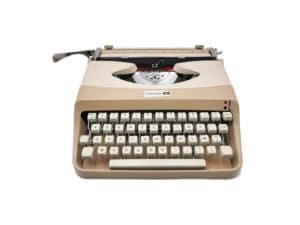 Machine à écrire beige Underwood 18 vintage révisée ruban neuf