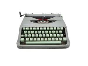 Machine à écrire Hermes Baby Rocket Verte Tilleul révisée ruban neuf