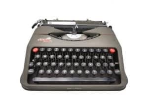 Machine à écrire Empire Aristocrat grise révisée ruban neuf
