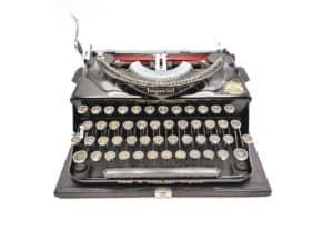 Machine à écrire Imperial The Good Companion noire révisée ruban neuf 1933 #Iconic