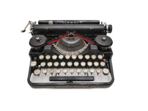 Machine à écrire Underwood Portable 3 Bank noire révisée ruban neuf 1926 RARE