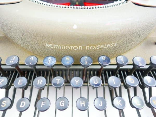 Remington Noiseless verte révisée ruban neuf