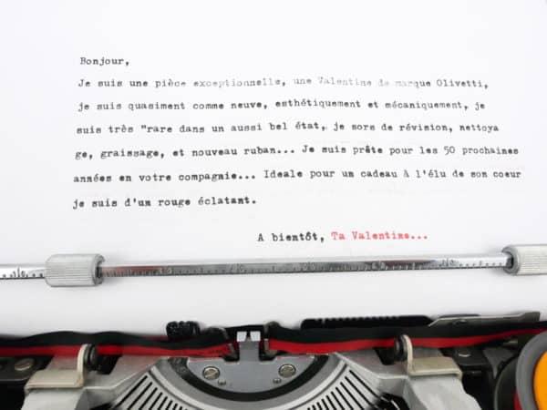 Olivetti Valentine Rouge NM révisée ruban neuf