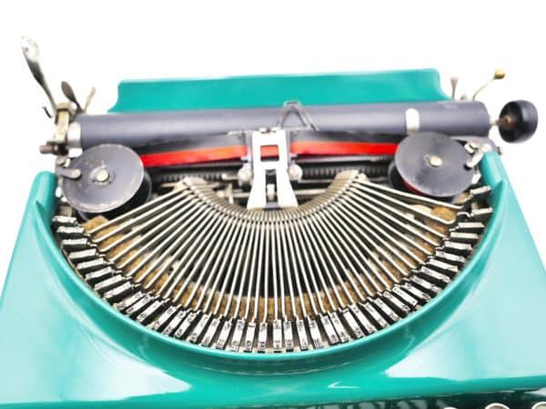 Machine à écrire Remington portable verte 1928 usa révisée ruban neuf