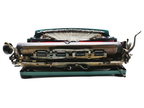 Remington Portable verte 1928 révisée ruban neuf