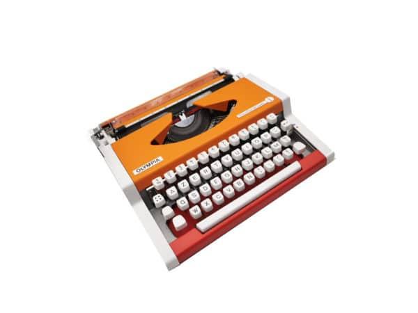 Olympia Traveller de Luxe Rouge Orange révisée ruban neuf