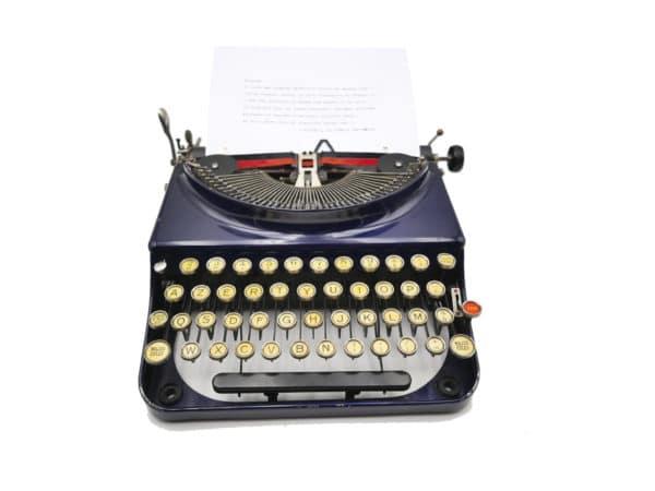 Machine à écrire Contin Remington France Bleue