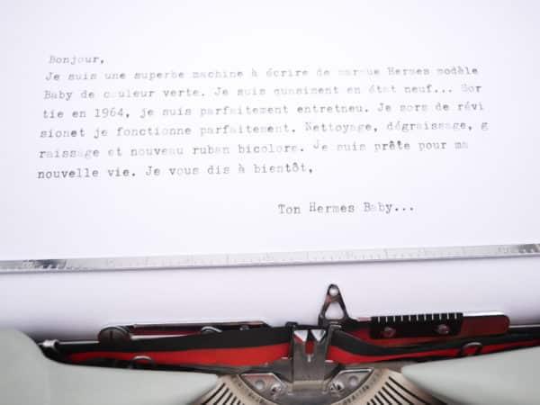 Hermes Baby Rocket Verte Tilleul avec Valise révisée ruban neuf 1964
