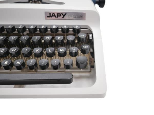 Japy P 951 Blanche et bleue révisée ruban neuf